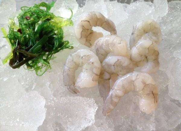 Seewasser Riesengarnelenfleisch ohne Schale roh 8-12