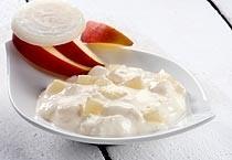 Sahne Sauce mit Zwiebeln für Matjes