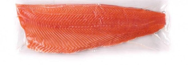 frisches Lachsfilet ohne Haut ganze Seite 800g