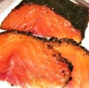 Gravad Lachs geschnitten