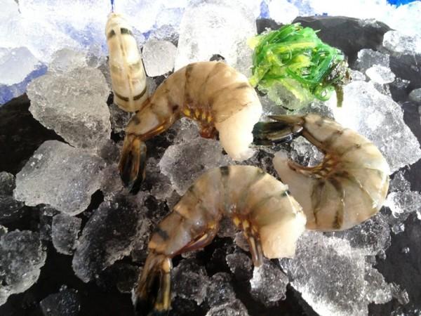 Frischwasser Riesengarnelen u-5 ohne Kopf, mit Schale